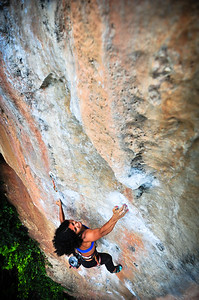 Banana Ship 7b+ (5.12c) @ Hidden World, Tonsai Climber: Nazo Canitez