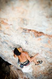 Ta Kean Hin, 7a+ (5.12a) at Koh Yao Noi. Climber: Derek Cheng