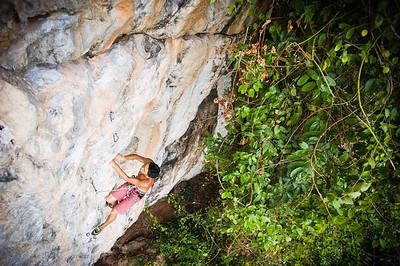 Catch A Fire 7a+ (5.12a) @ Marley Wall, Tonsai Climber: Derek Cheng