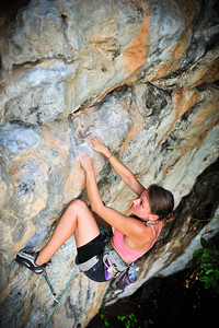 Catch A Fire 7a+ (5.12a) @ Marley Wall, Tonsai Climber: Katelyn Merret