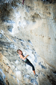 Black Cat 7a (5.11d) at Cat Wall, Tonsai. Climber: Katelyn Merrett