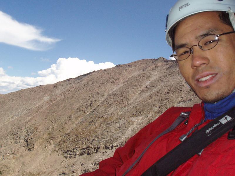 Climbing the North Ridge (5.6). Somewhere around the 3rd pitch.