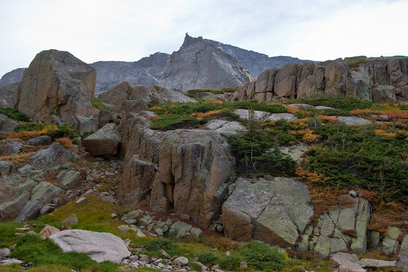 Finally above Black Lake and above treeline onto the tundra surrounding the Spearhead.