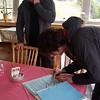 Signing in to climb Diga di luzzone