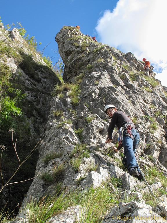 2012-09 Climbing in Yvoir (B)