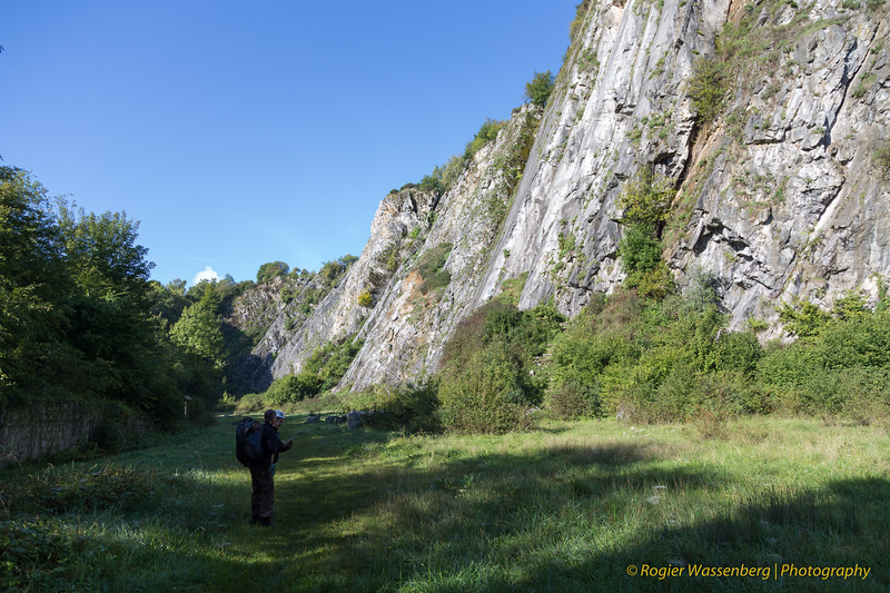 Climbing with NKBV in Les Awirs (B)