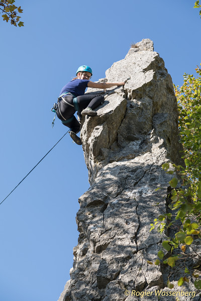 2018-10 Climbing in Pont a Lesse - Dave