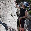 Climbing on Platten, near Steingletscher