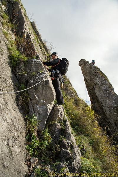 2013-11 Climbing in Yvoir - Dave