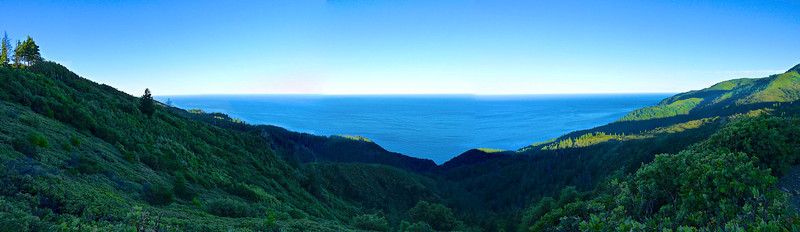 Pano view from the ridge after the 4X4 section of the south entry approach to Saddle Mountain TH.
