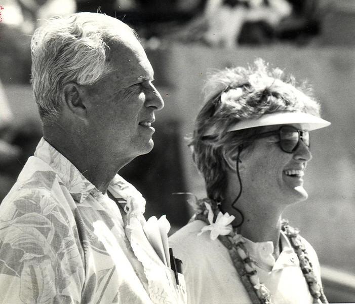 Cline Mann and Marilyn Haine