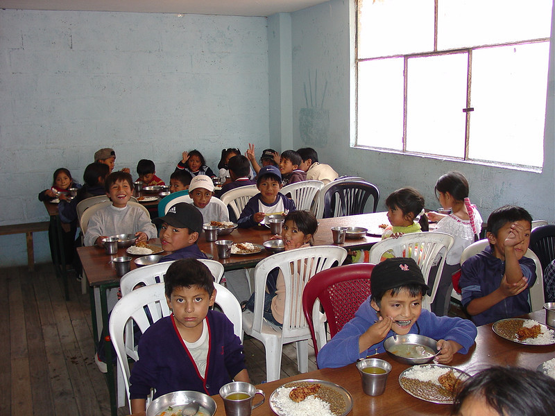 Having a hot lunch is a big help to all these children.  You never see anything wasted.