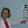 Dr. Rita Nenonen from Rhode Island, ehlps with a vision screening with our new chart.