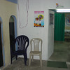 This was our first waiting area outside the clinic door.