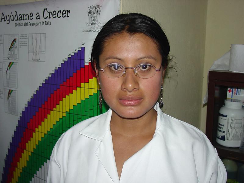"""Norma Cecilia, """"Ceci,"""" at work in the clinic."""