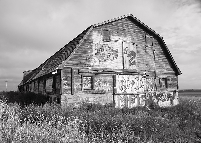 I-BW-Graffiti_ Barn-SuchanL
