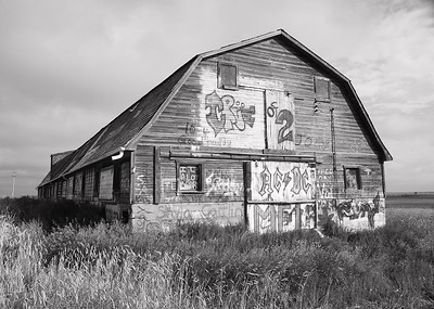 I-BW-Graffiti_ Barn-SuchanL