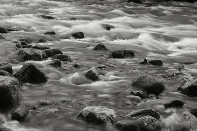 Intermediate - B&W/Monochrome  Moving Water Jeff O'Brien  Score: 24.3/30  Print of the Month  Olympus E-500, f22, ISO 100, 35mm