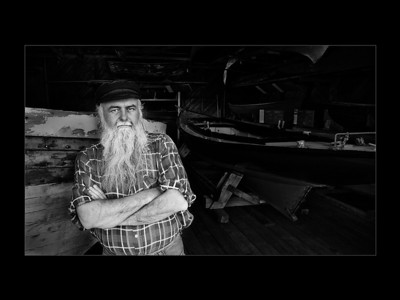Winner of the Digital Black & White / Monochrome Image of the Year (best digital submission from the clinics as voted by the members)  The Fisherman by Mark Knight