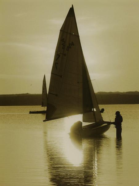 BW-A Sunset Sail-Gayvin Franson-Print