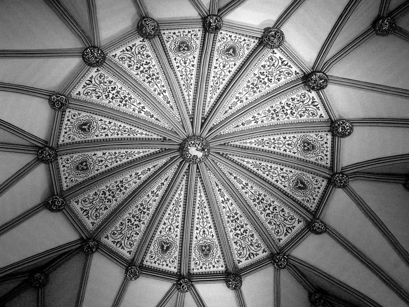 BW-York Minster Chapter House Ceiling - Howard Brown