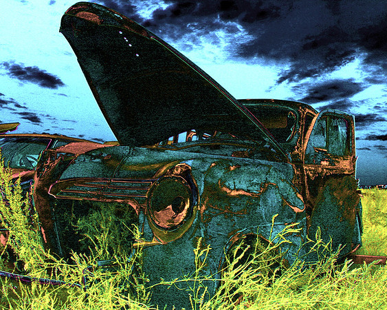 """Put out to Pasture"" by Ken Greenhorn Winner: Best Altered Reality Print of all clinics"