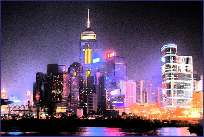 AR-Hong Kong Night Skyline-Betty Calvert