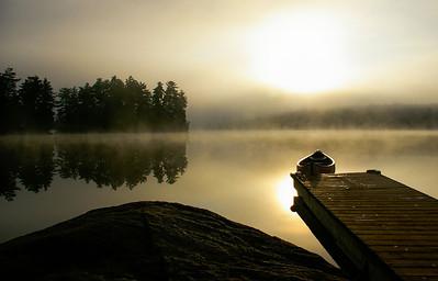Canoe at Sunrise
