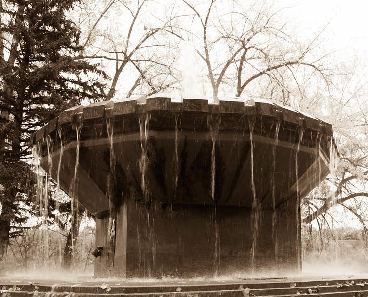 BW-Fall Fountain-Cassandra Childs