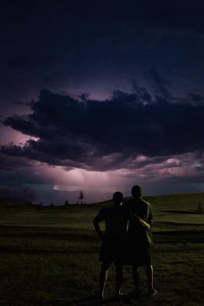 A Couple Of Prairie Boys Praying For Rain!-Char Mcgregor