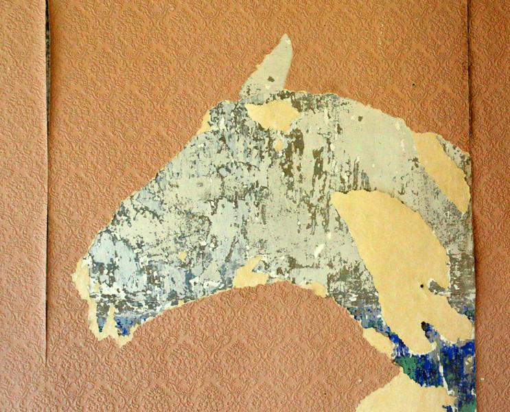 Torn Wallpaper Horse In Old Calendar House-Gayvin Franson