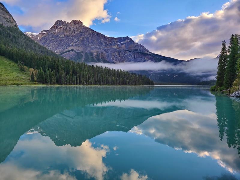 Morning Reflections At Emerald Lake