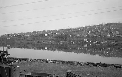 2021.008.4.018--clint jones 6x9 neg--COPR--view of Portage canal from yard--Houghton MI--1960s