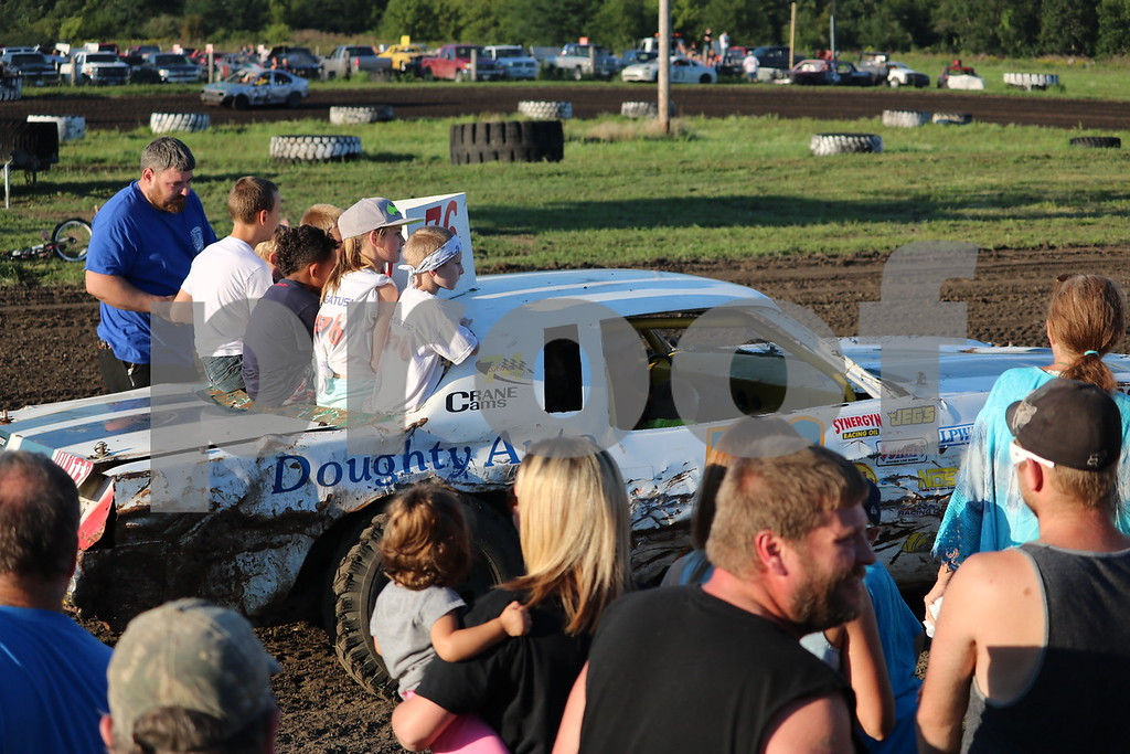 Kids get a ride before the races