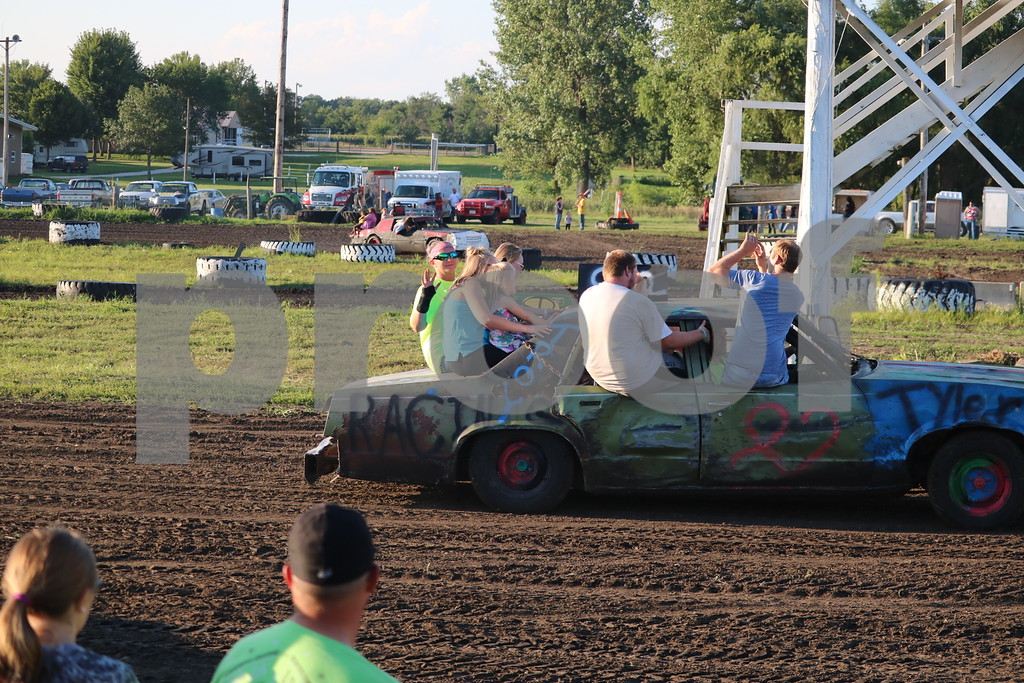 Kids getting rides before the races