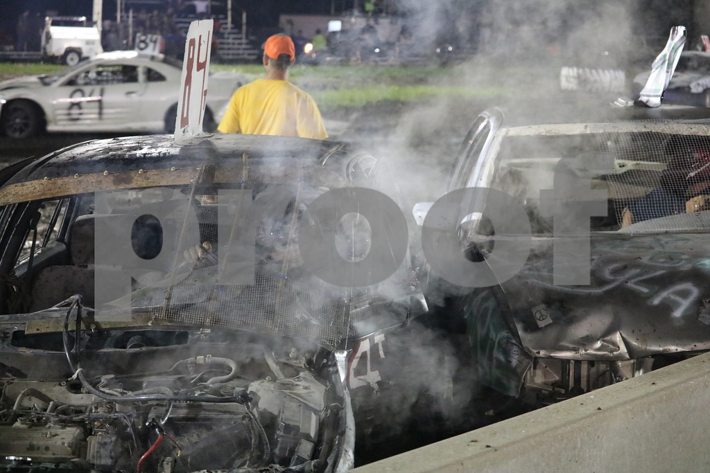 Bent and broken cars