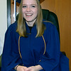 SHERRY VAN ARSDALL | THE GOSHEN NEWS<br /> Valedictorain Myka Shetler enjoys a moment of rest before taking part in the 50th annual commencement ceremony for the class of 2017 at Clinton Christian Church in Goshen Friday evening.
