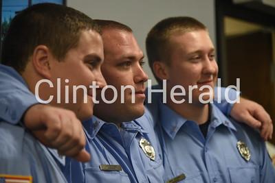 Clinton Fire Dept. swearing in ceremony 6-14-18