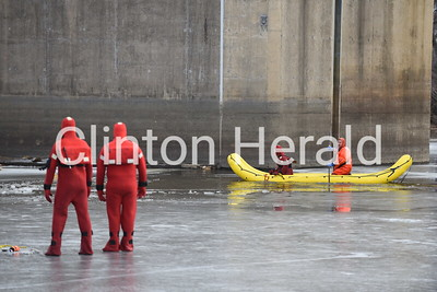Clinton Fire ice rescue training 1-31-18