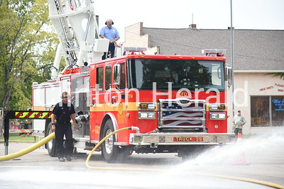 Clinton Fire new truck ceremony 8-14-18