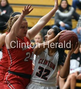 Clinton HS girls vs. Davenport Assumption 2-6-18