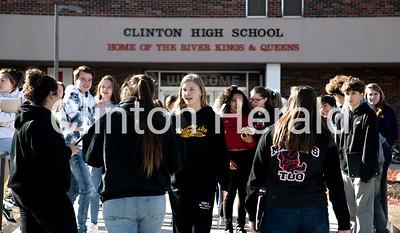Clinton High School walkout 3-14-18