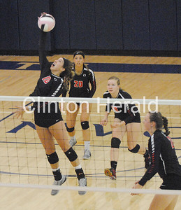 Clinton at CR Xavier state-qualifier volleyball 2016
