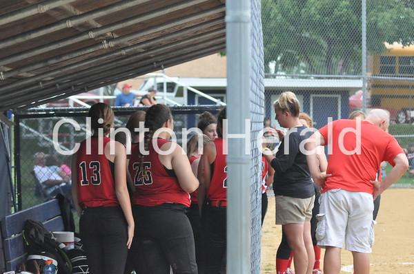 Clinton at Davenport Assumption softball (6-22-15)