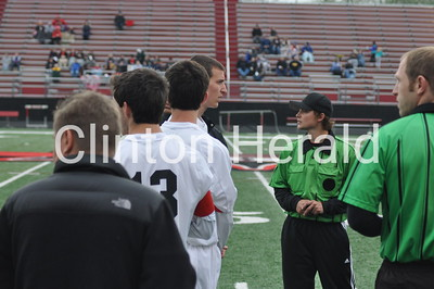 Clinton boys soccer vs. Dav. North (4-26-16)