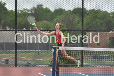 Clinton girls at regional tennis tournament (5-18-17)