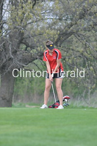 Clinton girls golf triangular (4-25-16)