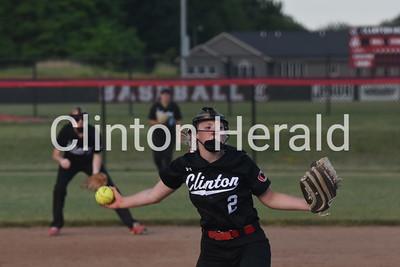 Clinton softball vs Pleasant Valley 6-15-17