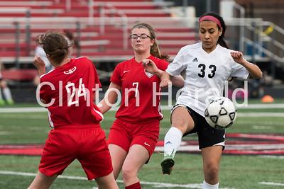 Clinton vs Davenport West girls soccer 4-13-17
