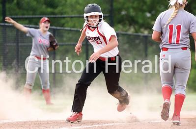 Clinton vs Davenport West girls softball 5-29-18